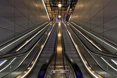 North/South Line Amsterdam (Johan Konz) Tags: subway northsouthline 52 escalator cs centralstation amsterdam transportation indoor nzline metro symmetry architecture urban design ceiling wall geometric nikon d7500