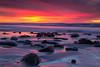 Sherbet Sunset (PhotoJacko - Jackie Novak) Tags: sandiego beach lajolla sunset leefilternd6softgnd canon6d nature landscape seascape california ocean longexposure water movement rock boulder