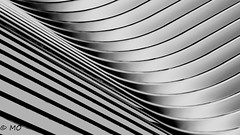 Abstraction (mathieuo1) Tags: nyc oculus fineart art lines composition blackandwhite abstract shape wave metal structure construction usa modern artistic museum modernart work realization view nikon zoom blur shadow sharp shade shard strong strengh dot illumination light architecture mathieuo