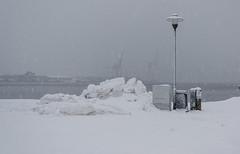By the bay (AstridWestvang) Tags: larvik object sea snow streetlamp strømstad