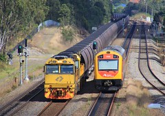 5024 and 5009 lead JW910 Aurizon coal past 2752 at Metford (bukk05) Tags: 5024 5009 5020class 5000class railpage:class=130 railpage:loco=5024 rpaunsw5020class rpaunsw5020class5024 wagons jw910 2752 explore export engine railway railroad railpage rp3 rail railwaystation railwaystations railcar railmotor train tracks tamron tamron16300 trains transport photograph photo passenger passengertrain loco locomotive horsepower hp ge ge7fdl16 flickr freight diesel dmu dieselmultipleunit station standardgauge sg spring 2017 australia artc aurizon aurizoncoal qrn qrnational canon60d canon c44achi nsw newsouthwales newcastle cityofnewcastle metford