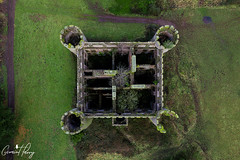 Ruperra Castle (geraintparry) Tags: south wales southwales geraint parry geraintparry dji phantom 3 pro djiphantom aerial drone rudry green castle machen ruin ruins ruined caerphilly