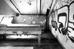 (SamBHart) Tags: 35mmfilm nikonfm2 24mmlens bwfilm analog blackandwhite autobiographical summer portland oregon abandonedbuilding papermill decay dilapidated graffiti street art