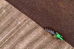 Down on the Farm, ploughing. (Steve Samosa Photography) Tags: ploughing farming farm farmland tractor aerial aerialview dronecamera drone droneshot droneview topdownview rainhill england unitedkingdom gb