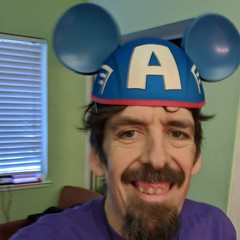 March 2: Getting Ready for Disneyland (earthdog) Tags: 2018 self selfie instagram googlepixel pixel androidapp moblog cameraphone face mouseears marvelcomics captainamerica captain earthdog project365 3652018