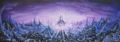 Shakuras Xelnaga Temple (RedRoofArt) Tags: starcraft fanart shakuras protoss dark templar temple purple art painting fantasy scify acryl energy xelnaga