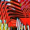 stacked chairs II (j.p.yef) Tags: peterfey jpyef yef chairs street stacked red digitalart seasons autumn winter photomanipulation square aoi elitegalleryaoi bestcapturesaoi