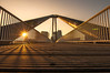 Early Bird (Moritz Padberg) Tags: düsseldorf duesseldorf sunrise bridge brücke