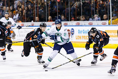 "Kansas City Mavericks vs. Florida Everblades, February 18, 2018, Silverstein Eye Centers Arena, Independence, Missouri.  Photo: © John Howe / Howe Creative Photography, all rights reserved 2018 • <a style=""font-size:0.8em;"" href=""http://www.flickr.com/photos/134016632@N02/38577423530/"" target=""_blank"">View on Flickr</a>"