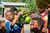 Kids competing to sell fruits on the Street side, Ethiopia (CamelKW) Tags: ethiopia2017 kids competing sell fruits streetside ethiopia