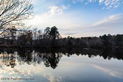 Evening Light on Swift Creek Reservoir 2 - Midlothian, VA (Paul Diming) Tags: dailyphoto v1 landscape virginia n1v1 chesterfieldcounty nikon1v1 midlothianvirginia swiftcreekreservoir lake midlothian pauldiming winter unitedstates us