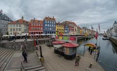 Copenhagen (18) - Nyhavn (Vlado Ferenčić) Tags: nyhavn denmark copenhagen danska vladoferencic boat vladimirferencic nikond600 sigma1528fisheye fisheye cloudy clouds sky citiestowns cities cityscape