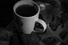 Cup of joe (kwtracyghostship) Tags: stilllife coffee kwtracyghostship bw blackandwhite noir canon550exstrobe ste2transmitter lightandshadow contrast mono rogueflashbender ef28135 eos 5dmkii starbucks cup