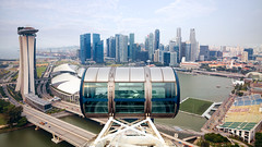 Marina bay from top of Singapore flyer, Singapore (Patrick Foto ;)) Tags: amusement architecture asia asian attraction beautiful beauty big building capsule circle construction detail entertainment fair famous ferris flyer fun giant high huge landmark largest leisure marina modern observation outdoor panorama panoramic park recreation ride scene scenery scenic sightseeing singapore steel structure tallest thrill tourism tourist travel urban vertical view wheel sg