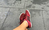 Foot in red sport shoes (phuong.sg@gmail.com) Tags: activity adult alone asia asian athlete athletic black cropped exercise exercising feet footwear grey legs lifestyle low man partial people person red section shoes shot sneakers socks sport sporting sportive sportsman sporty studio training working workout young youth