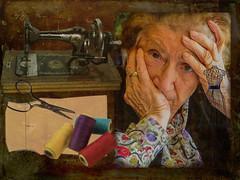 Souvenir de couturière (Xtian du Gard) Tags: xtiandugard couturière woman old