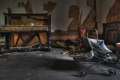 Only  memories (JG - Instants of light) Tags: piano babystroller furniture destruction vandalized decay abandoned carrinhodebebe mobilia destruição vandalizado decadente abandonado urbanexploration exploraçãourbana urbex nikon d5500 sigma 1020 portugal