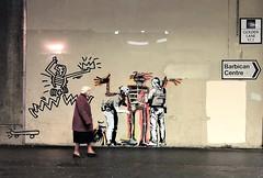 Banksy at Barbican for Basquait (Jeremy Hurt) Tags: banksy barbican
