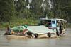 Boat Shower. (david newbegin) Tags: mekongriver vietnam chaudoc boats showers