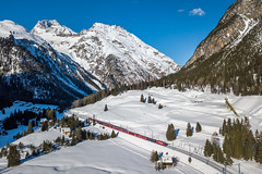 Albula-IRs (david_gubler) Tags: albula preda rhb rhaetianrailways snow mountains narrowgauge passenger agz albulagliederzug rhätischebahn train railway