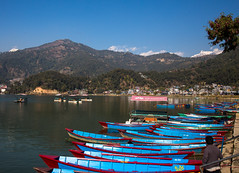Boats on Lake Phewa, Pokhara (tclemitson) Tags: nepal pokhara westerndevelopmentregion