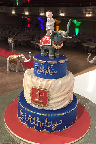 Royal Elephant 1st Birthday Cake