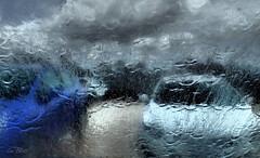 HAIL STORM...... (Lani Elliott) Tags: abstract lanielliott water hail hailstorm cars rain scene fantastic beautiful wow awesome