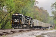 NS 251 at Dallas (travisnewman100) Tags: norfolk southern train railroad road railer triple crown 251 locmotive c408 sd60e ge emd atlanta north district georgia division dallas