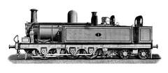 Mersey Railway (UK) - 0-6-4T steam locomotive Nr. 1 (Beyer Peacock Locomotive Works, Manchester-Gorton 1885) (HISTORICAL RAILWAY IMAGES) Tags: steam locomotive bp beyerpeacock mersey railway manchester gorton 064t