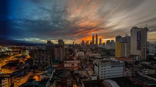 Kuala Lumpur - Night to Day Time Sliced