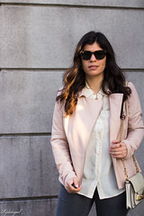 Pink leather jacket, white silk blouse, grey denim, silver mules-19.jpg (LyddieGal) Tags: athleta grayson lineapelle blush coloreddenim denim fashion gap grey jcrew leatherjacket loafers mules officestyle outfit rayban silkblouse silver spring style sunglasses tjmaxx vionic wardrobe weekendstyle white