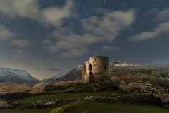 'Dolbadarn Starlight' - Llanberis, Snowdonia (Kristofer Williams) Tags: castle night sky stars clouds landscape nightscape dolbadarncastle mountains mountain snowdonia snowcapped llanberis medieval ruins wales