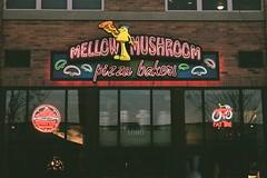 Mellow Mushroom (katieskellie) Tags: agfa400 lights pizza saltlakecity utah 35mmfilm filmisnotdead agfavista minolta slr