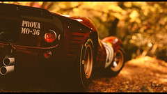 Ferrari 330 P4 (at1503) Tags: autumn autumncolours rearview taillight brakelight wheels golden fallenleaves leaves tree sunlight bokeh blur depthoffield ferrari red yellow orange ferrari330p4 classic 1960s 1967 racecar granturismo granturismosport ps4 racing game motorsport japan digitalphotography digitalmotorsport