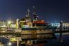 Offshore Phantom (Malte Kopfer Photography) Tags: crewtender offshore offshorephantom ijmuiden seaportijmuiden nightshot nightphotography port reflections actamarine