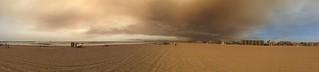 Wild Fires from Santa Monica.  #wildfires #fireonbeach #californiafires #santamonica