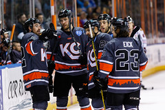 "Kansas City Mavericks vs. Indy Fuel, February 17, 2018, Silverstein Eye Centers Arena, Independence, Missouri.  Photo: © John Howe / Howe Creative Photography, all rights reserved 2018 • <a style=""font-size:0.8em;"" href=""http://www.flickr.com/photos/134016632@N02/39676657624/"" target=""_blank"">View on Flickr</a>"