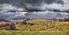 IMG_6861-63Ptzl1scTBbLGER (ultravivid imaging) Tags: ultravividimaging ultra vivid imaging ultravivid colorful canon canon5dm2 clouds stormclouds scenic rural sky winter snow landscape panoramic pennsylvania pa farm fields trees twilight evening