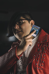 Live at annie's II (Adolfo Perez Design) Tags: portrait potraiture portraits people faces studio rembrant lighting eyes model face yu gi oh yugioh duel