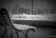 Baby plage - Quais de la rade (Julia Casa) Tags: banc geneve ice winter froid gel lac lake cityview