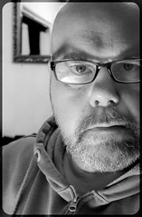 Portrait (CWhatPhotos) Tags: cwhatphotos portrait self selfie bw black white face man male void look me picture pictures photo photos pic pics foto fotos image images that have with which contain mono monochrome olympus micro four thirds camera