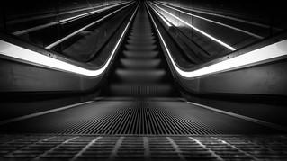 Escalator B/W