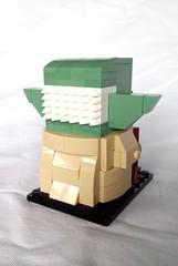 Yoda (instructions available) (tomvanhaelen) Tags: lego star wars yoda custom brickheadz moc