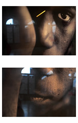 U N T I T L E D  [E Y E   C O N T A C T] (bruXella & bruXellus) Tags: arimarcopoulos eyecontact mima millenniumiconoclastmuseumofart brüssel bruxelles brussels brussel belgien belgique belgium belgië leicax1 canal canalzone diptych diptychen diptyque