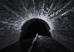 The Brick Tunnel (Rob Pitt) Tags: brotherton park dibbinsdale bromborough rake night photography light painting tokina 1116 wirral tunnel otter texture abstract black background 750d blackwhite