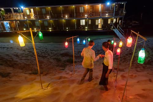 Farewell party on a sandbar