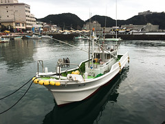 Small boats at Katsuura Harbor (phuong.sg@gmail.com) Tags: antique asia asian attraction boat building canal city cold contemporary day daylight destination dock fishing harbor heritage historic hokkaido japan japanese lake landmark landscape nature net old otaru outdoor port red sapporo season sky summer sunshine tour tourism tourist town travel trip urban vacation village warehouse wharf
