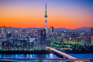 When the Sky Turns to Orange / Tokyo Skytree
