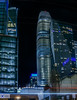 millennium group (pbo31) Tags: sanfrancisco city california urban nikon d810 color february 2018 winter boury pbo31 night dark black panoramic large stitched panorama skyline salesforce tower construction financialdistrictsouth lightstream traffic roadway blue 181fremont mainstreet