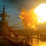 Vietnam War 1968 - View of USS New Jersey Firing Guns thumbnail